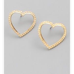 ❤️Gold Heart Stud Earrings